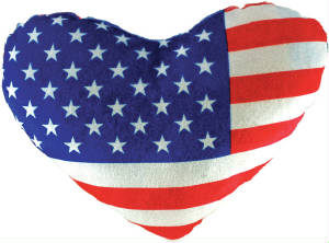 "10"" USA Flag Heart"