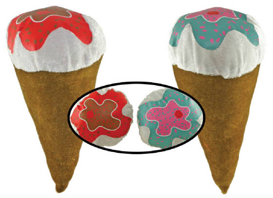 "9"" Ice Cream Cone Plush"