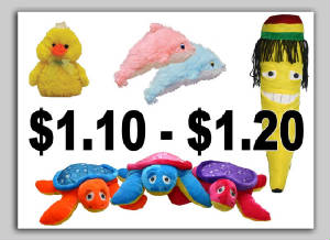 Plush Carnival Plush Toys Novelty Stock