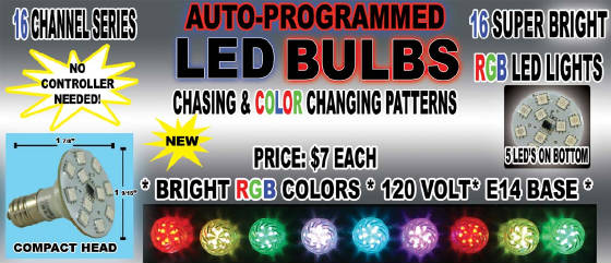 16 channel auto-programmed led bulbs
