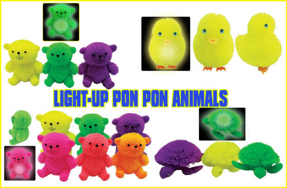 Light-Up Pon Pon Animals