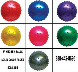 "6"" Knobby Balls Solid Colors"