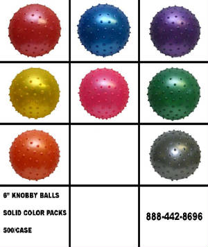 "6"" Knobby Ball Solid Colors"