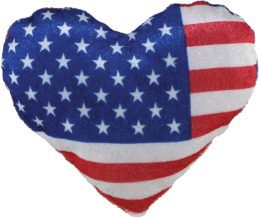 "6"" USA Flag Heart"