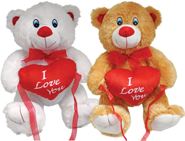 "16"" Heart Bear Valentines Day"