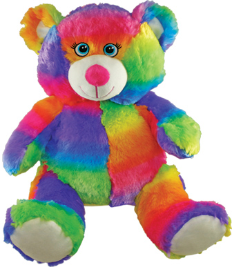 "15"" Jumbo Rainbow Patch Bear"