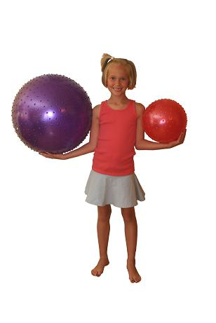 big 18 inch knobby balls assorted colors