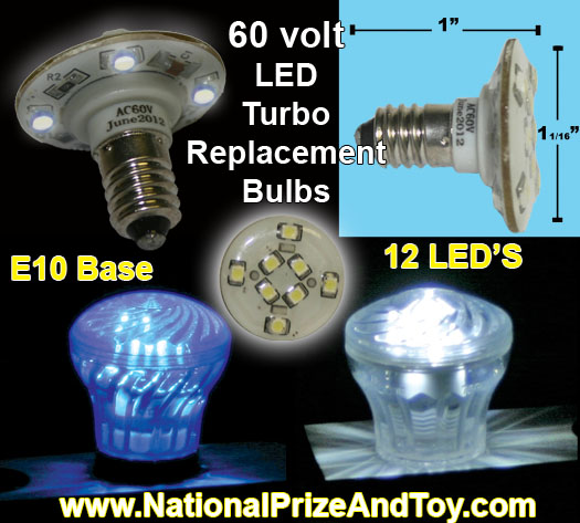 60 Volt LED Turbo Replacement Bulbs