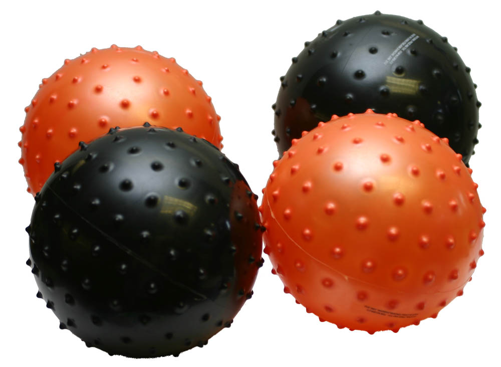 "6"" Knobby Ball - Orange & Black"